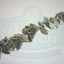 Antique Silver Leaf Fringe Chain