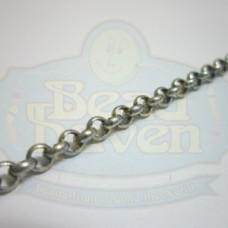 Antique Silver Medium Rolo Chain