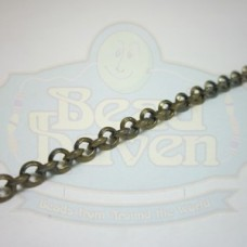 Antique Brass Beveled Rolo Chain