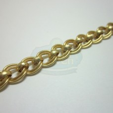 Matte Gold Double Curb w/Bead Chain