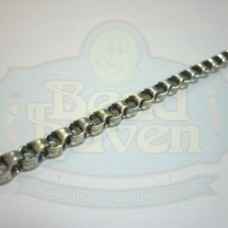 Antique Silver Looped Rope Chain