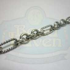 Antique Silver Chain w/Twisted Oval and Links