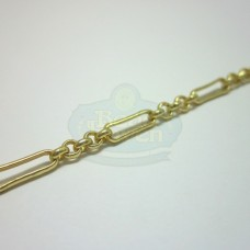 Matte Gold Small Long and Short Chain