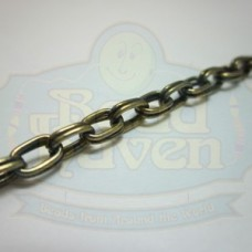 Antique Brass Double Oval Chain