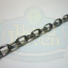Gunmetal Double Oval Chain
