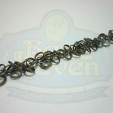 Antique Brass Circle Fringe Chain
