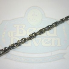 Gunmetal Twist Link Rope Chain