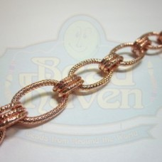Copper Textured Large Oval Chain