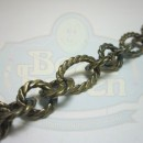 Antique Brass Large Twist Link Chain