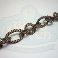 Antique Copper Large Twist Link Chain