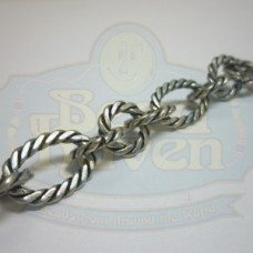 Antique Silver Large Twist Link Chain