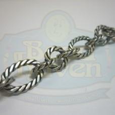 Antique Silver Large Twist Link Chain