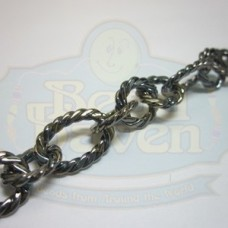 Gunmetal Large Twist Link Chain