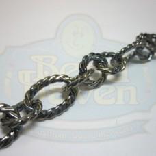 Gunmetal Large Twist Link Chain