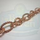 Copper Large Twist Link Chain