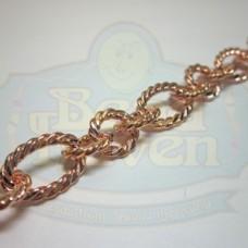 Copper Large Twist Link Chain