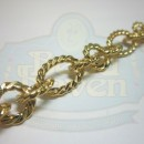 Gold Large Twist Link Chain