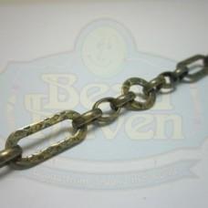 Antique Brass Fancy Link Chain
