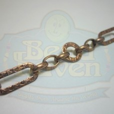 Antique Copper Fancy Link Chain