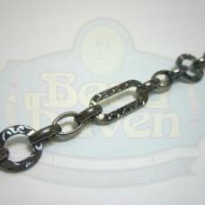 Gunmetal Fancy Link Chain