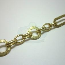 Matte Gold Fancy Link Chain
