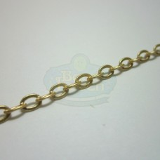 Matte Gold Small Flat Oval Chain