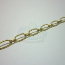 Matte Gold Small Textured Oval Chain