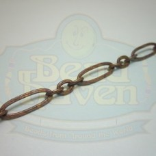 Antique Copper Large Long and Short Chain