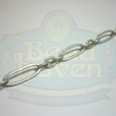 Antique Silver Large Long and Short Chain