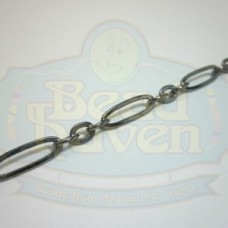 Gunmetal Large Long and Short Chain