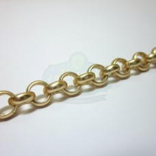 Matte Gold 6mm Rolo Chain