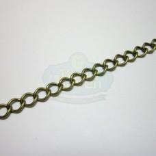 Antique Brass 6mm Curb Chain