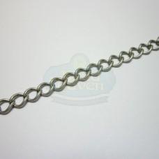 Antique Silver 6mm Curb Chain