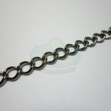 Gunmetal 6mm Curb Chain