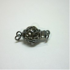 Gunmetal Filigree Ball Box Clasp
