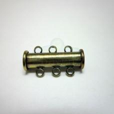 Antique Brass 3 std. Magnetic Bar Clasp