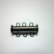Gunmetal 3 std. Magnetic Bar Clasp