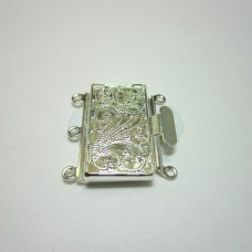 Silver Large Filigree Box Clasp