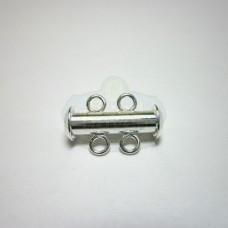 Silver 2 std. Bar Clasp