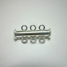 Silver 3 std. Bar Clasp