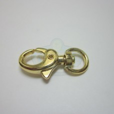 Gold Medium Swivel Lobster Clasp