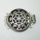 Antique Silver 5 Strand Round Box Clasp