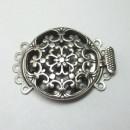 Antique Silver 5 Strand Round Box Clasp