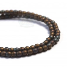 3mm Round Matte Oxidized Bronze Clay