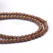 2mm Round Luster Opaque Rose/Gold Topaz