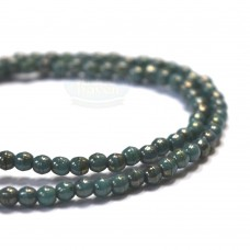 2mm Round Turquoise Bronze Picasso