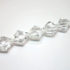 12x13mm crystal clear faceted bicone