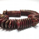 8/7mm Petal Opaque Red Copper Picasso