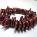 8/7mm Petal Opaque Red-Bronze Picasso