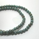 4mm Round Turquoise Pink Luster